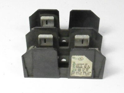 Littelfuse LJ60060-2C Fuse Holder 600V 60A 2 Pole ! AS IS !