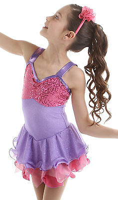 New Skating Competition Dress Elite Xpression Pink Mauve 1531 Adult Medium