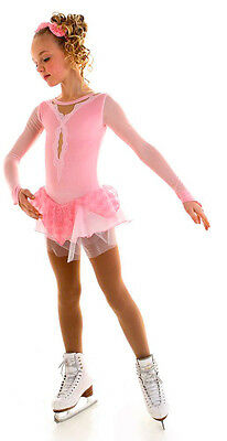 New Competition Figure Skating Dress Elite Xpression Pink Princess 1536 AS Small