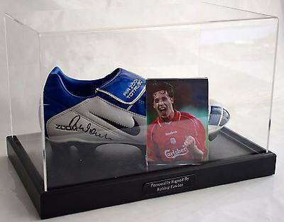 Robbie Fowler Signed Autograph Football Boot Display Case Liverpool AFTAL & COA