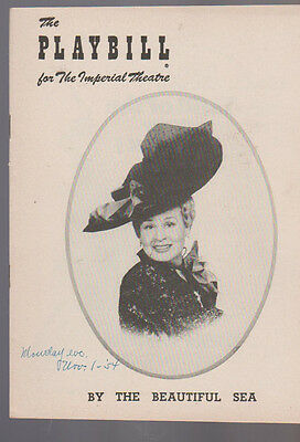 By the Beautiful Sea Playbill Shirley Booth November 1 1954