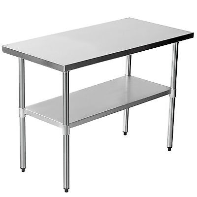 48'' x 24'' Stainless Steel Commercial Work Bench Kitchen Catering Table 4X2FT