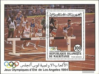 Mauritania block58 (complete issue) used 1984 olympic. Summer ´