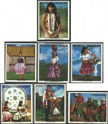 Paraguay 2518-2524 (complete issue) unmounted mint / never hinged 1973 Folklore
