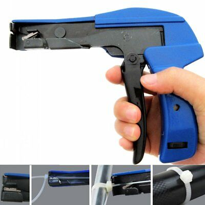 Nylon Cable Tie Gun Installation Tensioning Fastener Plastic Nylon Zip Cutting