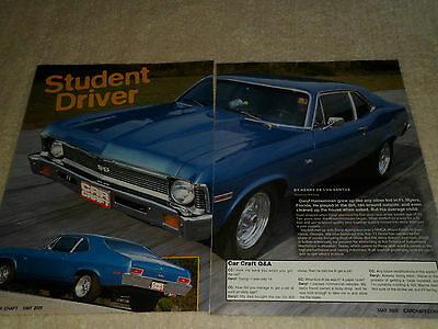 1971 CHEVROLET NOVA article / ad