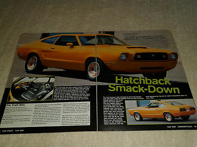 1978 FORD MUSTANG II HATCHBACK article / ad