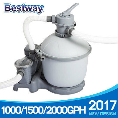 Bestay Sand Filter Pump Combo for Above Ground Swimming Pool 1000/1500/2000gph