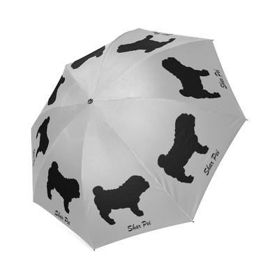 New Design Black SHAR PEI Dog Puppy Auto Foldable Polyester UMBRELLA Free Ship