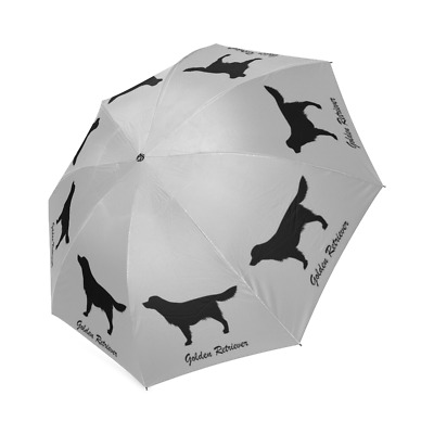 Silhouette GOLDEN RETRIEVER UMBRELLA Foldable Dog Lover Stuff Loss Memorial Gift