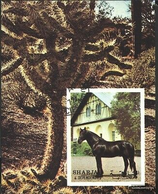 Sharjah block 116 (complete issue) used 1972 Horses
