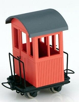 Minitrains 5128 - Caboose, Red - New (009/HOe Narrow Gauge)