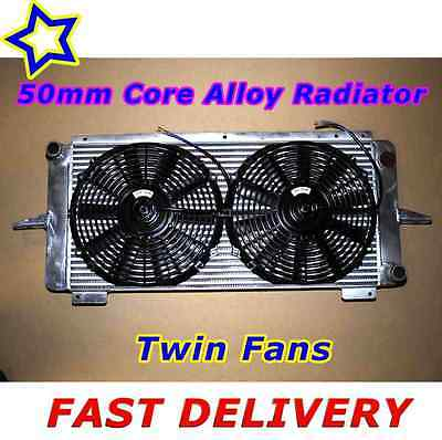 Ford RS500 Escort Sierra RS Cosworth 2WD Uprated Alloy Radiator with Twin Fans