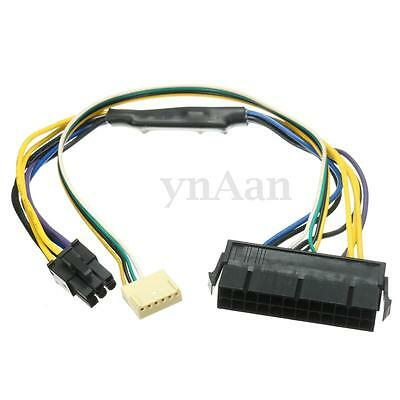 ATX 24pin to 6pin Motherboard 2-port Power Supply Cable for HP Z220 Z230 SFF