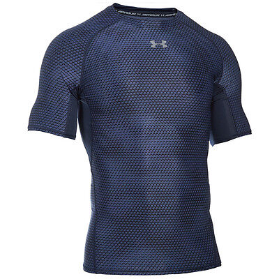Under Armour Heatgear Compression Printed Short Sleeve Shirt navy 1257477-411