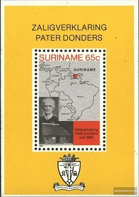 Suriname Block33 (complete issue) unmounted mint / never hinged 1982 Pater P. Do