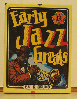 "R. Crumb ""Early Jazz Greats"" Set of 36 Cards - Brand New Set SEALED"