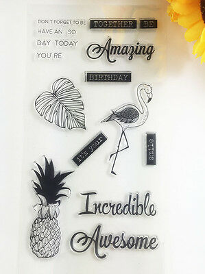 1 Sheet Silicone Transparent Stamp Seal pineapple DIY Scrapbooking Album