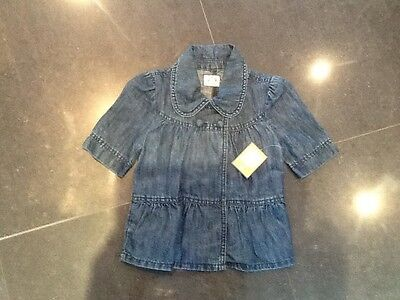 NWT Juicy Couture New & Gen. Girls Denim Short Sleeved Jacket With Bows Age 8
