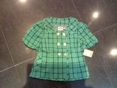 NWT Juicy Couture New & Gen. Girls Green Short Sleeved Jacket With Buttons Age 8