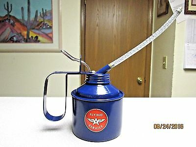 "12oz THUMB LEVER PUMP FLYING ""A"" GAS GASOLINE TRUCK FARM TRACTOR OIL OILING CAN"