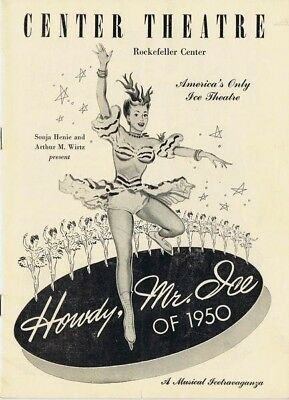 Howdy Mr. Ice of 1950; Rockefeller Center, Sonja Henie