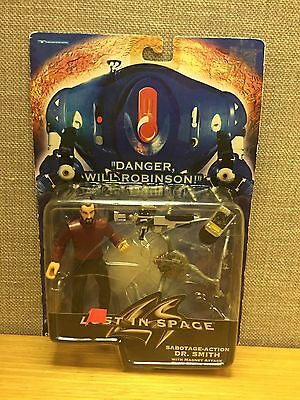 Lost In Space: Dr. Smith w/Sabotage Action and Claw Strike Spider  New 1997!