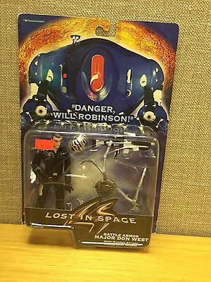 Lost In Space: Battle Armor Major Don West w/Power-Leap Spider figure, New!