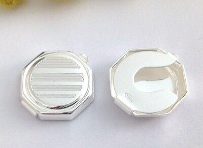 COPRI BOTTONI IN ARGENTO MASSICCIO 925-925 STERLING SILVER BUTTONCOVERS