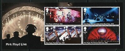 Great Britain 2016 Pink Floyd  Souvenir Sheet  Mint Never Hinged