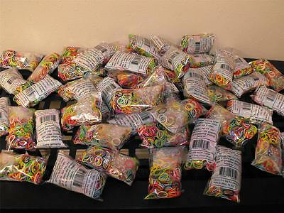 HUGE LOT 314 Sealed Bags of 600+each Rainbow Loom Refill Rubber Bands & C-Clips