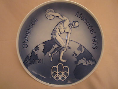 MONTREAL OLYMPIC GAMES 1976 collector plate ROYAL COPENHAGEN - OLYMPICS