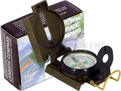 Compass Military Style Metal Camping Hiking Satellite Finder Tool for Sat Finder