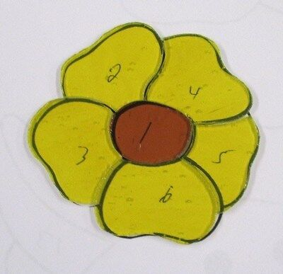 FLOWER,  Precut Stained Glass, Mosaic kit, TYPE 4