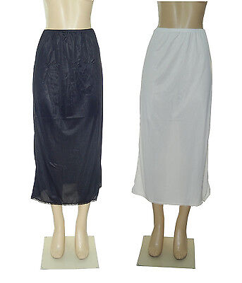 "36"" Length Women Plain Long Half Slip 100% Polyester Size S M L XL 2X 3X 4X 5X"