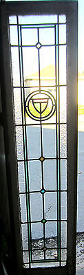 ~ ANTIQUE AMERICAN STAINED GLASS WINDOW ~ 16.5 x 66.75 ~ ARCHITECTURAL SALVAGE ~