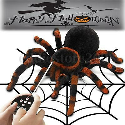 Remote Control 4CH RC Spider Tarantula Scary Toy Prank Kid Child Halloween Gift