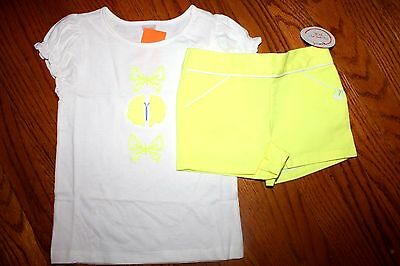 NWT Gymboree Butterfly Fields 18-24 Months Set Butterfly Shirt Yellow Shorts