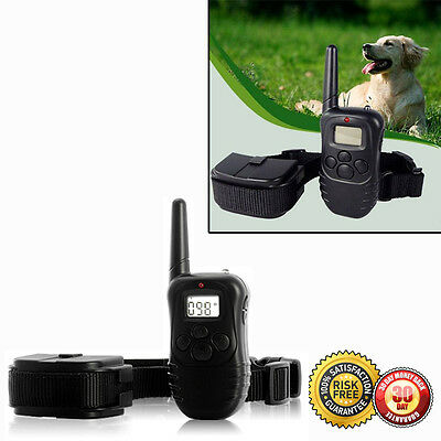 New Pet Dog Training Collar Rechargeable Electric LCD 100LV Shock (One Collar)