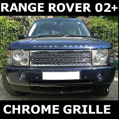 Chrome SUPERCHARGED front GRILLE Range Rover L322 Vogue 2002-05 radiator mesh