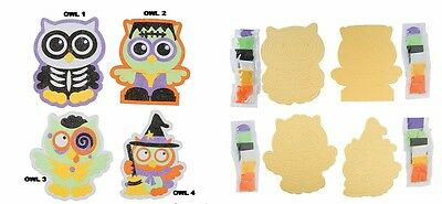 Halloween Owl Sand Art Kit - Various Designs  - Choose 1 or all 4 designs