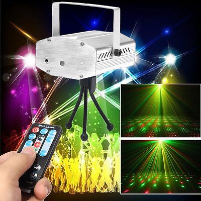 Mini LED R&G/RGB Laser Stage Light Adjust Disco Xmas Club Party Projector Remote