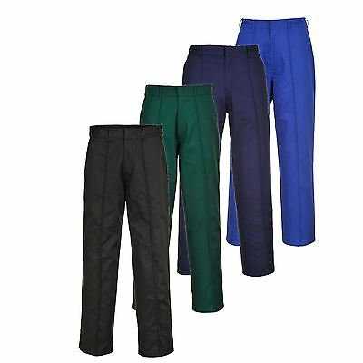 Portwest Wakefield Durable Work Trousers Pants Front Crease Workwear 28'' - 48''