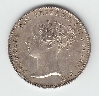 1849 Silver Threepence 3d - Victoria