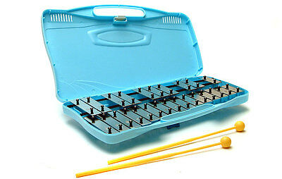Glockenspiel: 25 music note Xylophone with case & beaters (mallets) percussion