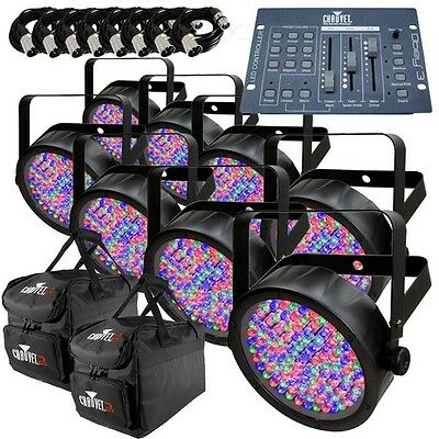 Chauvet SlimPAR 56 x8 with Obey 3 Controller, Bags & Cables DJ Lighting Package