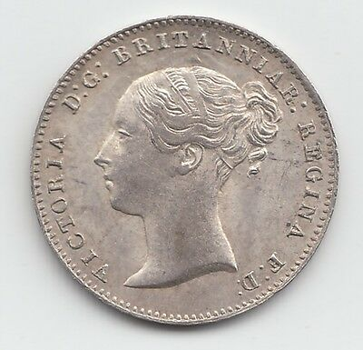 1861 Silver Threepence 3d - Victoria