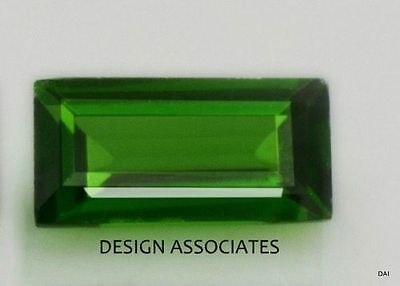 Russian Green Chrome Diopside 7X5 Baguette facet gemstone