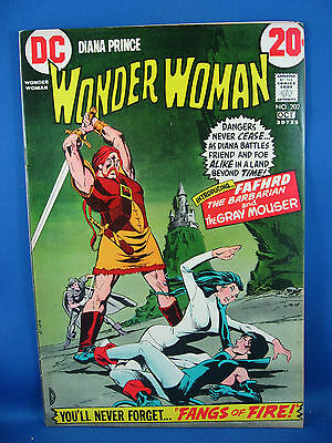 WONDER WOMAN 202 VF 1972 Catwoman Appearance
