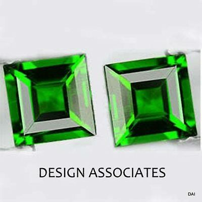 Russian Green Chrome Diopside Square Cut 3 MM 1 PC